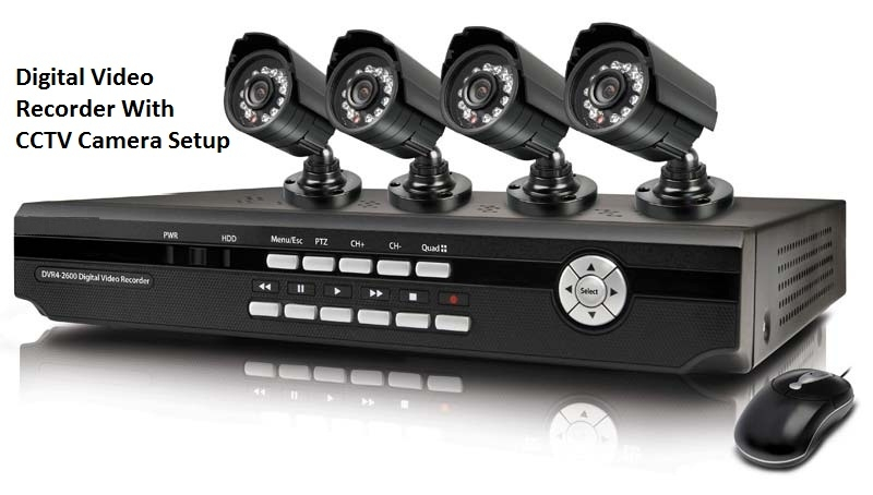 Digital Video Recorder with CCTV Camera Setup